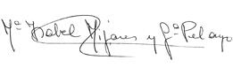 Firma Isabel Mijares