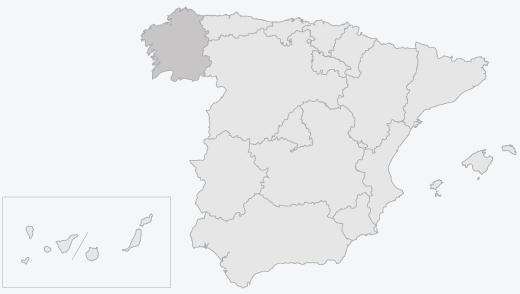 Zona de producción del lacón gallego